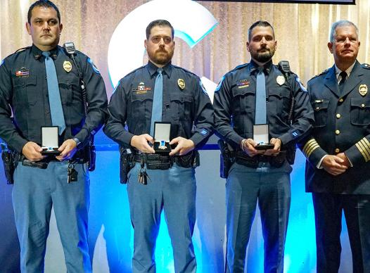 picture of cobb county police award winners