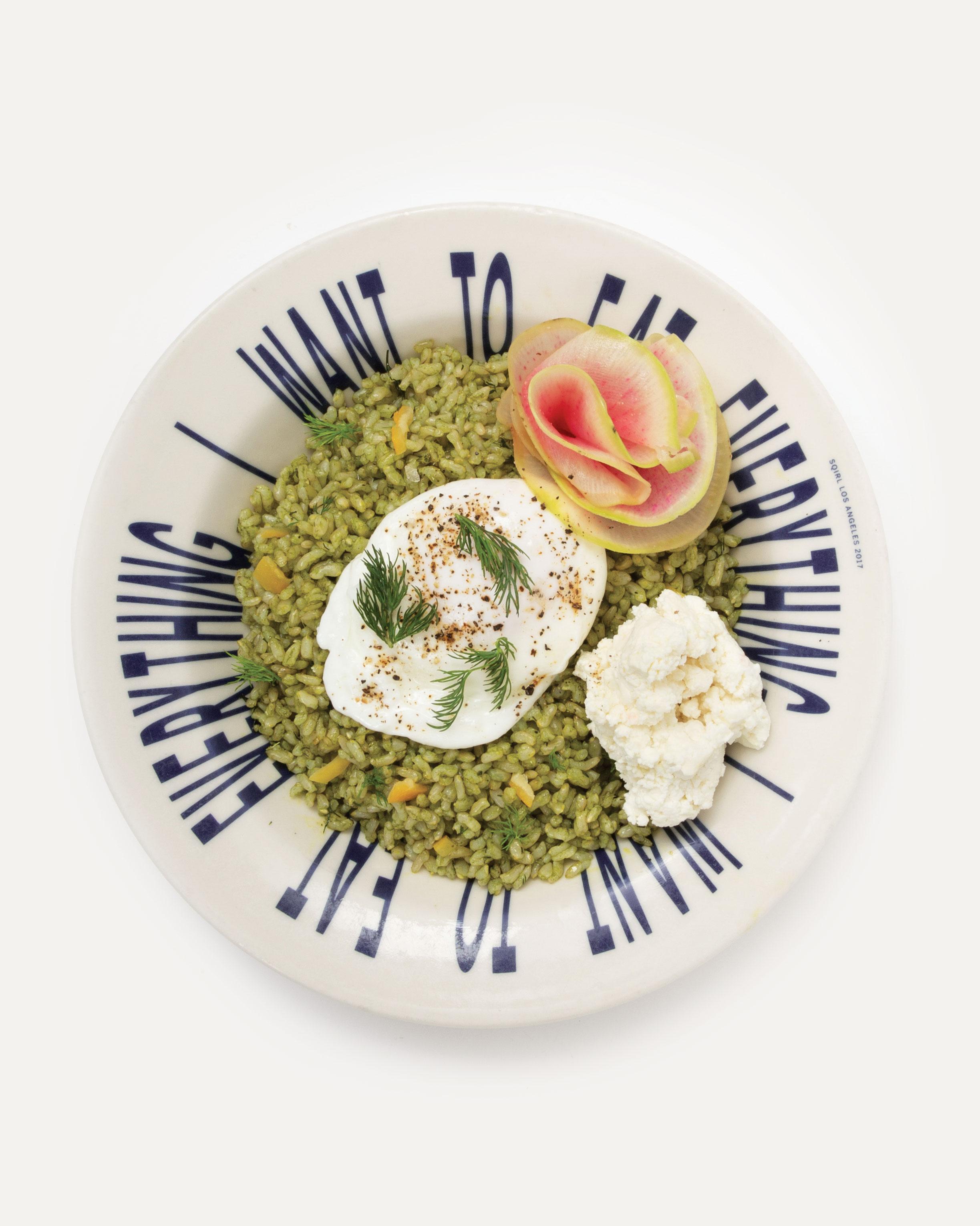 Sorrel Pesto Rice