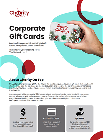 Holiday Corporate Branded Gift Card