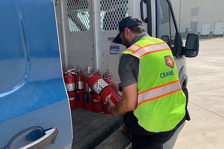 Fire Extinguisher Inspection Landscape