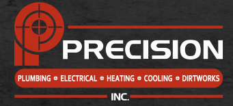 PRECISION PLUMBING ELECTRICAL HEATING AND COOLING logo