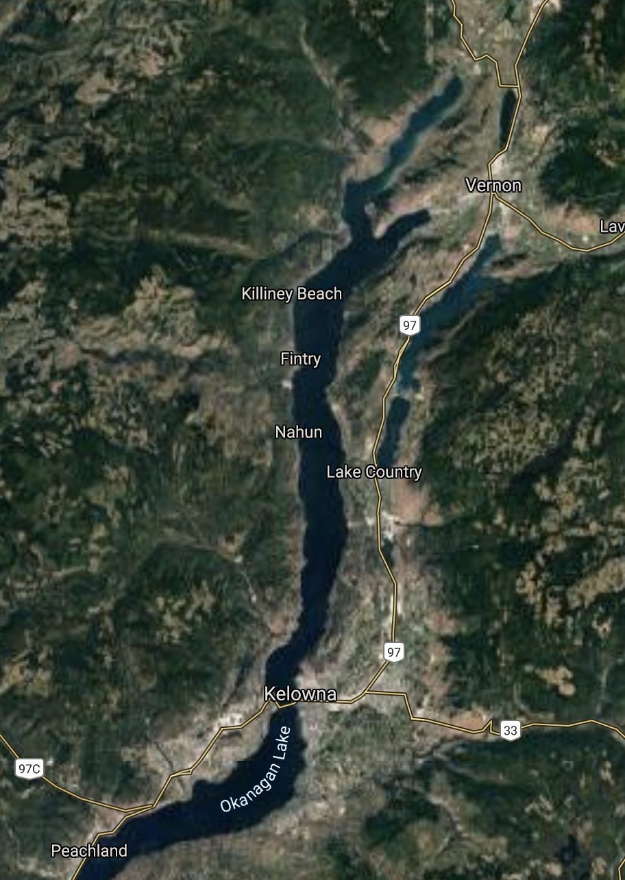 Kelowna Area Map