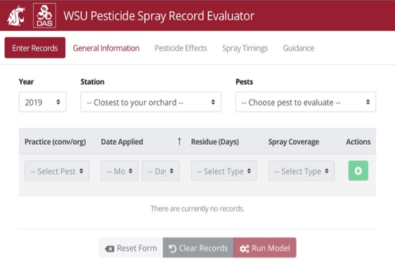 WSU Pesticide Record Evaluator