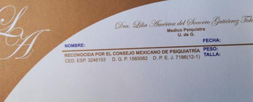 Lilia America Del Socorro Gutierrez Toledo