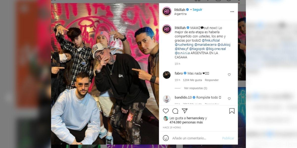 Lit Killah presentó sus colaboradores en Mawz