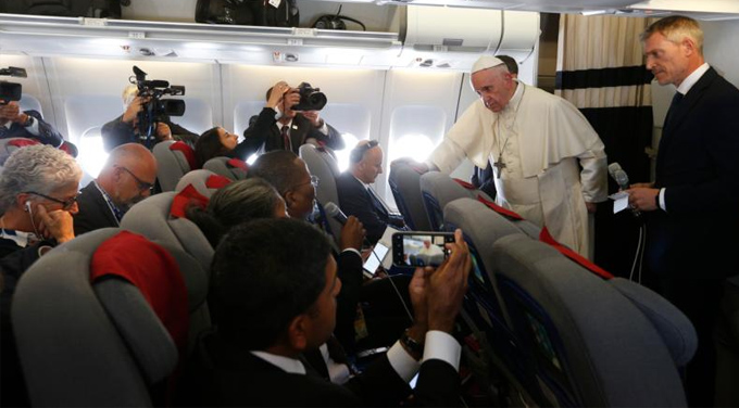 Full text of Pope Francis' in-flight press conference from Madagascar