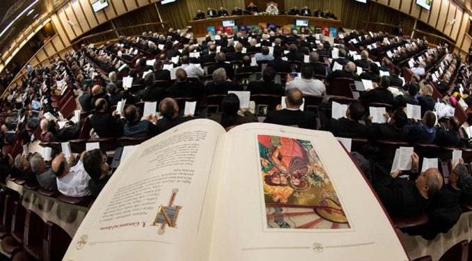 synod panoramic oct082019 The Vatican document tracing the rise of ex-cardinal Theodore McCarrick through the hierarchy's ranks has been praised for its unprecedented transparency in shedding light on a dark episode in the life of the Church. But the practice of transparency shouldn't stop there.
