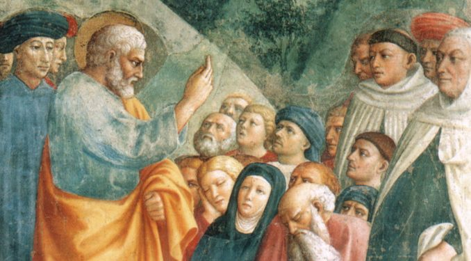 peterpreaching cf In this article, I would like to offer an argument for the prominent inclusion of moral preaching as part of the ministry of homiletic preaching in the new evangelization.