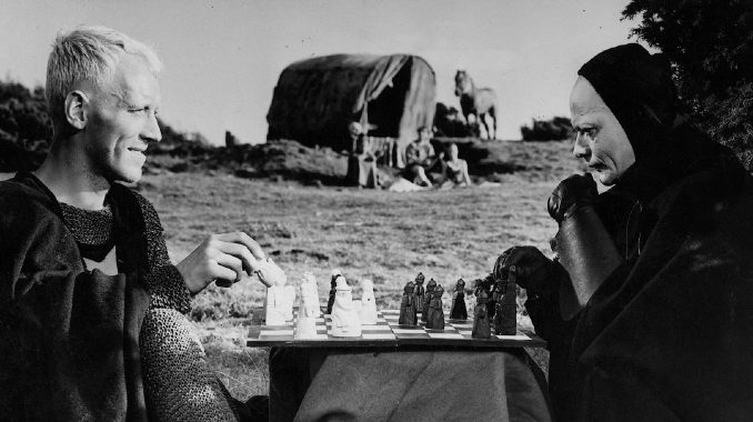 seventh seal 1957 You may judge it a curious or sobering coincidence—the great actor Max von Sydow has just died, during the worst global epidemic in a century. Von Sydow was famous for his performance in Ingmar Bergman's 1957 film The Seventh Seal, a Christian existentialist story of faith conquering nihilism in the time of the Black Plague, after a Crusade resembling our Middle Eastern wars.