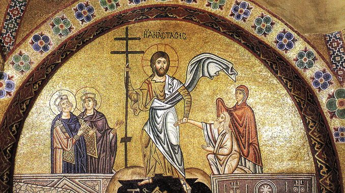 """resurrection greekicon11thc One of the topics that academic theologians like to discuss is the development of doctrine. It gives them something to prattle about over coffee breaks. The question is like an academic Enneagram, except instead of introvert v. extrovert, representing """"INFP"""" or """"ENFJ"""" we would create alphabet letters to measure personality traits of more liberal or conservative, more historian or systematician, more theoretical or empirical, more Platonist or Aristotelian. If the reader would like to know in what quadrant I land, I will confess to saying there is not a development of doctrine, but there is a development of the explanation of doctrine. Etymologically, the word comes from desveloper, which means to unwrap, unfurl, unveil. To de-velop is the opposite of en-velop: a letter arrives in the envelope and we develop it in order to read it. The deposit of faith arrives from the apostles and we have centuries to unwrap it."""