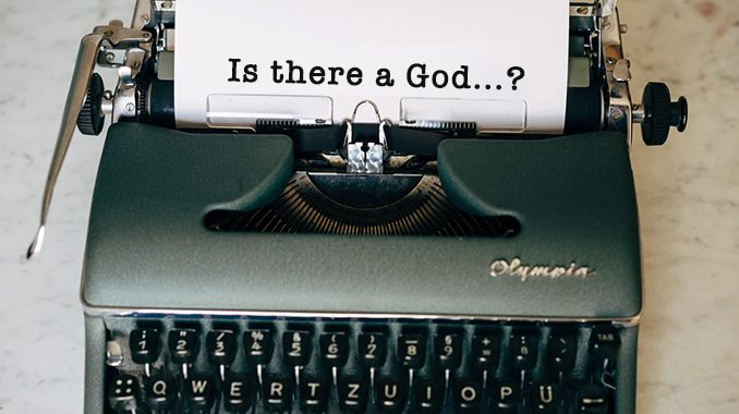 "typewriter isthereagod The worldview Nick Ripatrazone portrays in Longing for an Absent God: Faith and Doubt in Great American Fiction is sorely needed in these days of social distancing filled with concern that physical closeness could breed infection. The Catholic literary tradition, like its religious traditions, is deeply tactile. As Ripatrazone writes, ""Catholicism is an assault on the senses."" Its practices, both inside churches and in the daily lives of the faithful, surround us in the conviction that God is among us—here, now."