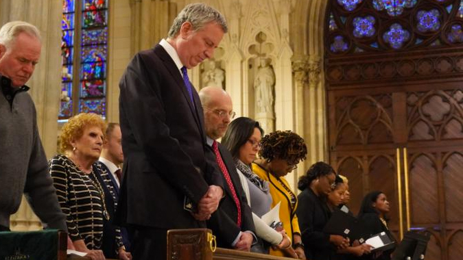 deblasio 2019 Washington, D.C. Newsroom, Jun 4, 2020 / 03:32 pm (CNA).- New York City Mayor Bill de Blasio said Tuesday that ongoing protests in the city merit exceptions to coronavirus regulations, while religious services do not. The mayor's remarks have drawn criticism from New York's archdiocese.