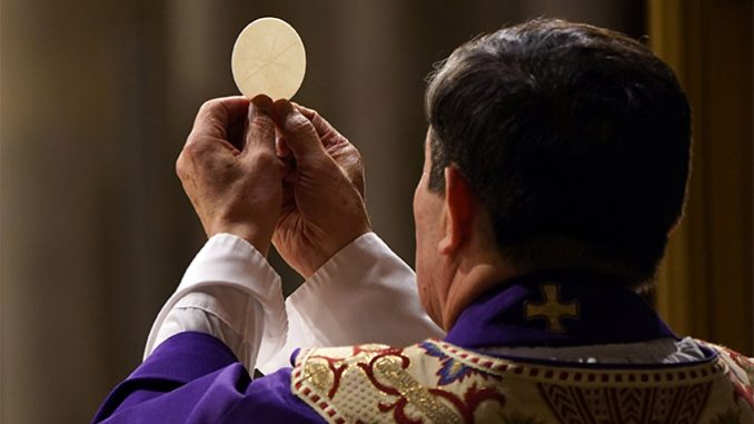 """20210202T1630 CATHOLIC PRINCIPLES DIVIDED CHURCH 1164272 In his encyclical, Ecclesia de Eucharistia, Pope St. John Paul II invited Catholics to """"rekindle"""" our sense of """"Eucharistic amazement,"""" for """"the Church draws her life from the Eucharist,"""" which """"recapitulates the heart of the mystery of the Church"""" – Christ's glorified, abiding presence with, in, and through his people, fulfilling his promise to remain with us """"to the close of the age"""" (Matthew 28:20). In the Eucharist, the Church meets her Lord """"with unique intensity."""" Thus the celebration of the Eucharist is not just something the Church does; the celebration of the Eucharist singularly embodies what the Church is."""