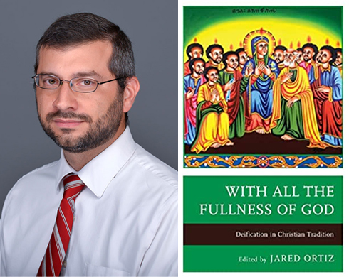 """jortiz book Jared Ortiz is Associate Professor of Religion at Hope College and founder and executive director of theSaint Benedict Institute.He is the author of You Made Us for Yourself: Creation in St Augustine's Confessions (Fortress Press, 2016), editor of Deification in the Latin Patristic Tradition (The Catholic University of America Press, 2019), and, most recently, editor of With All the Fullness of God: Deification in Christian Tradition (Fortress Academic, 2021), which has chapters by eleven scholars aimed at showing """"that deification is an integral part of Catholicism, Orthodoxy, and many Protestant denominations."""""""