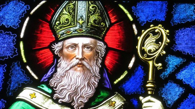 """stpatrick stainedglass One of the original victims of the malaise that has brought us """"cancel culture"""" was St. Patrick, in that March 17 has nothing to do with the fifth-century missionary saint. A religious feast that was celebrated quietly for a thousand years in Ireland has become a roaring booze fest in America (at least it was in the pre-COVID world—some of the things COVID is killing may not be tragic losses). But, perhaps by a certain point of view and a keen eye for Divine Providence, St. Patrick's Day might yet, despite it all, have something to do with the missionary saint of the Emerald Isle."""