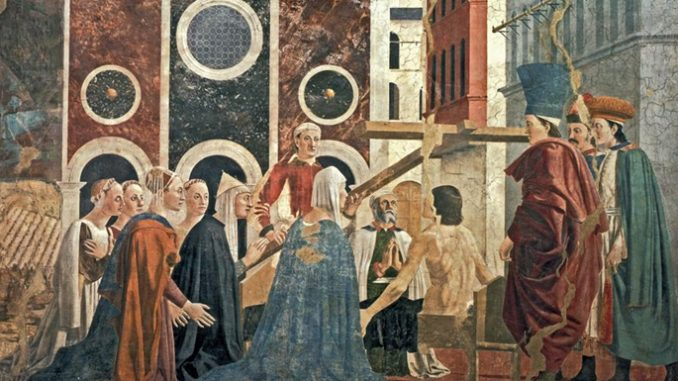 "truecross PierodellaFrancesca ""Behold the wood of the Cross, on which hung the salvation of the World."""