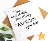 Amazing friend card,amazing friend quote,well done card,youre amazing,recycled,congratulations card,thank you card,youre the best card