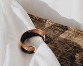 100% Recycled Solid Copper Cuff Handmade Scotland Bracelet Womens Mens Miss You Gift Rustic Minimalist British Anti Viral Jewellery