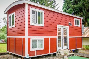 Absolutely Beautiful Tiny Red Bungalow Tiny House | Lovely Tiny House