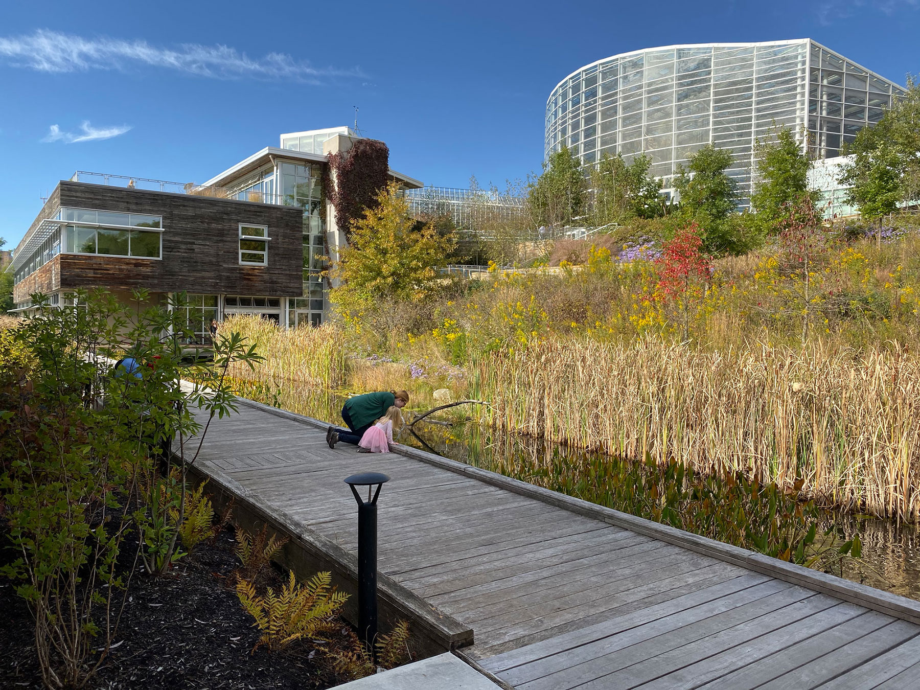 The Center for Sustainable Landscapes at Phipps Conservatory and Botanical Gardens is the first and only building to meet five of the highest green building standards.