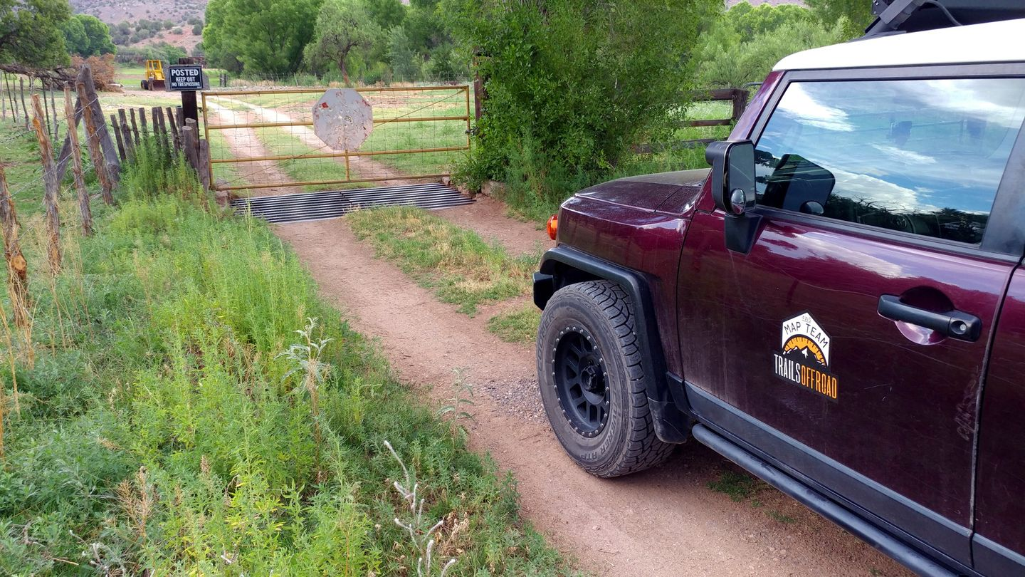 Jerome-Perkinsville Road - Waypoint 13: Private Gate