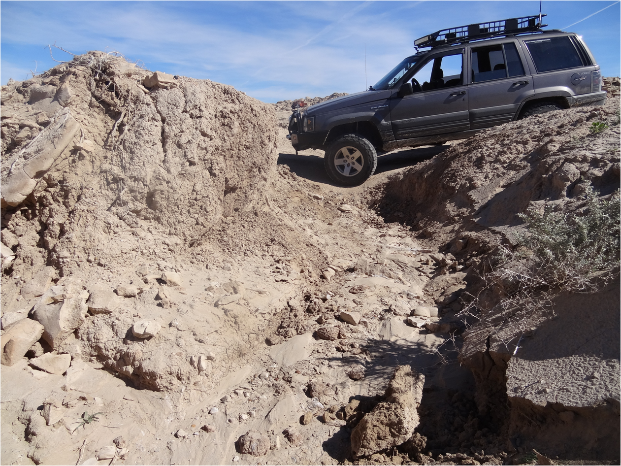 Pumpkin Patch Trail - Ocotillo Wells SVRA - Waypoint 4: Rutted section