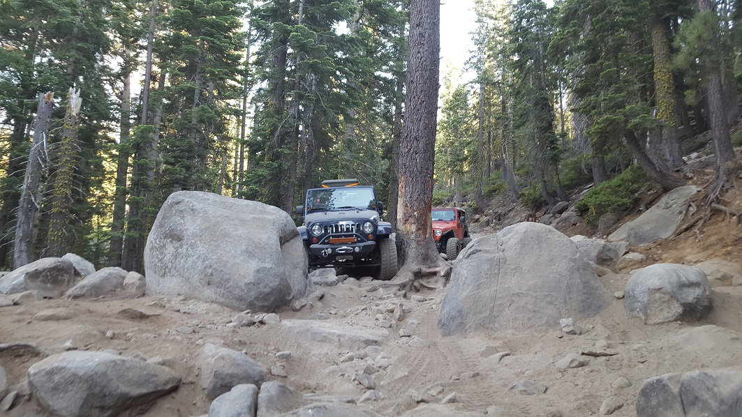 The Rubicon Trail - Waypoint 17: Tree and Rock Squeeze aka Saw Tooth