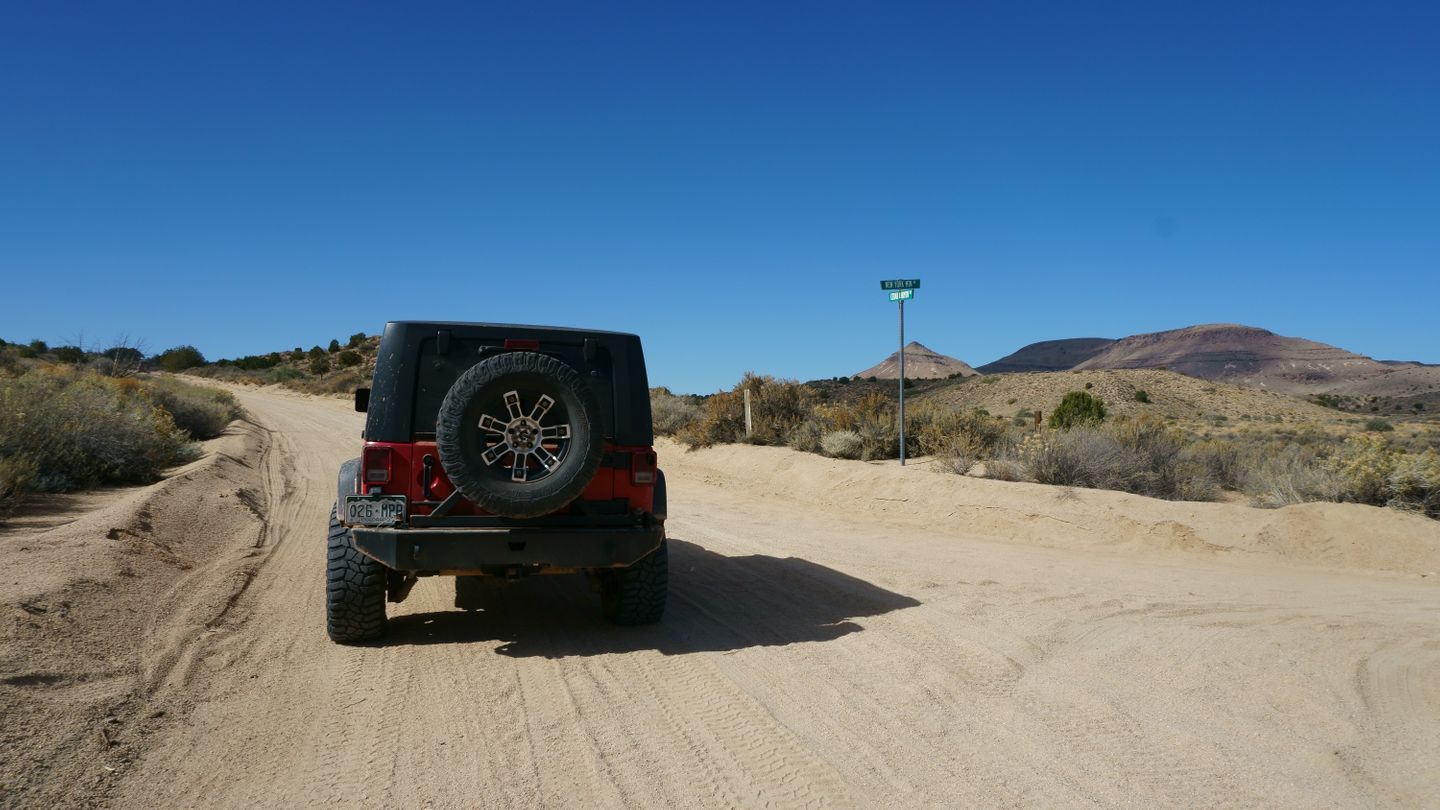 Mojave Road - Waypoint 42: New York Mountain Road Go Left/South