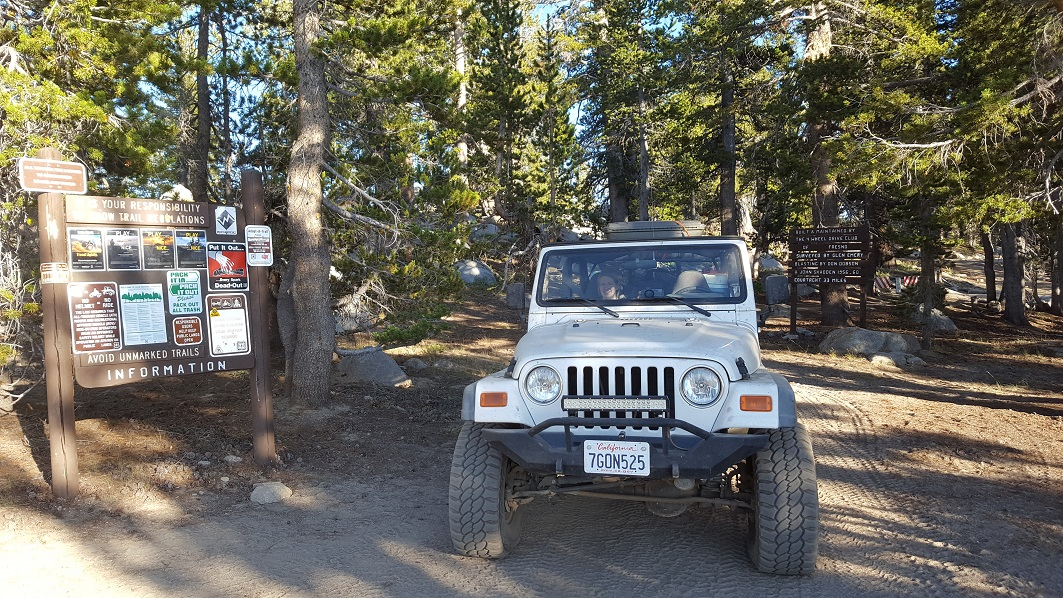 Dusy-Ershim  Trail - Waypoint 25: North end of trail