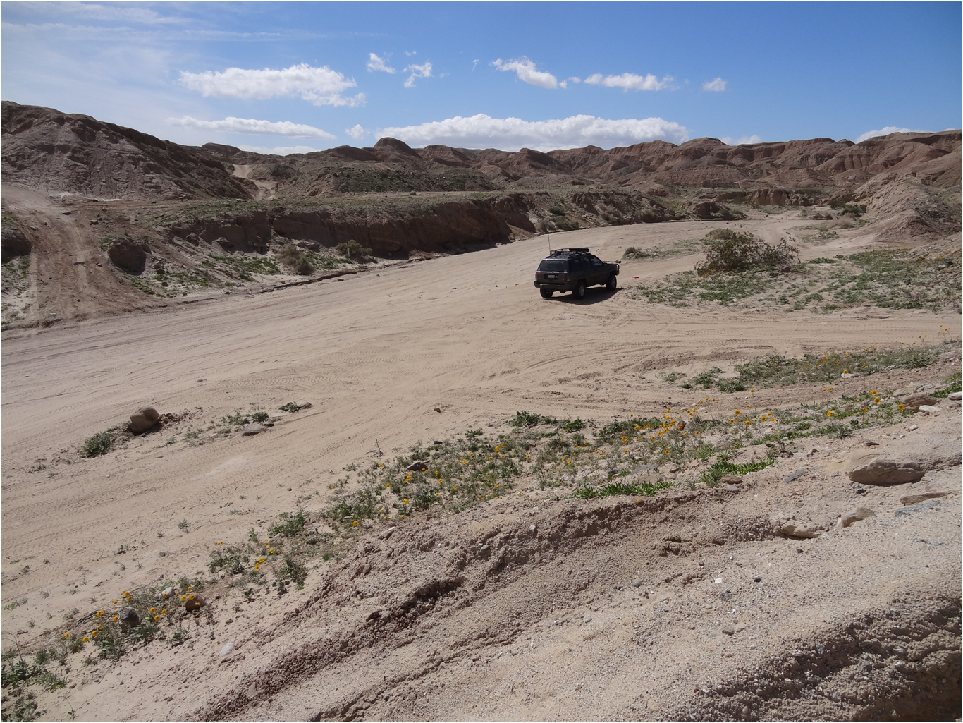 Tectonic Gorge - Ocotillo Wells SVRA - Waypoint 2: Access to Camp Area