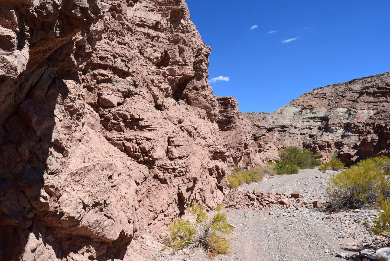 Callville Wash North Trail - Waypoint 9: Rock slide