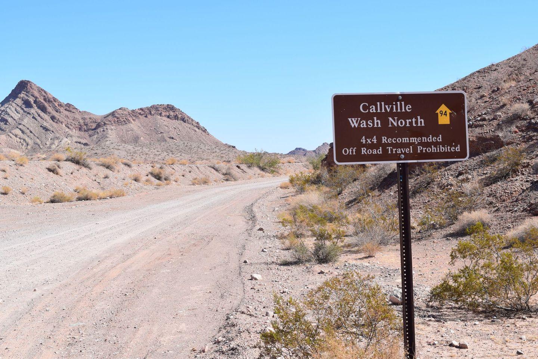 Callville Wash North Trail - Waypoint 1: Trailhead