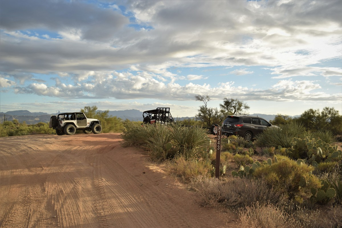 Rolls OHV FR 1343 Arizona - Waypoint 1: Trail Junction / FR401