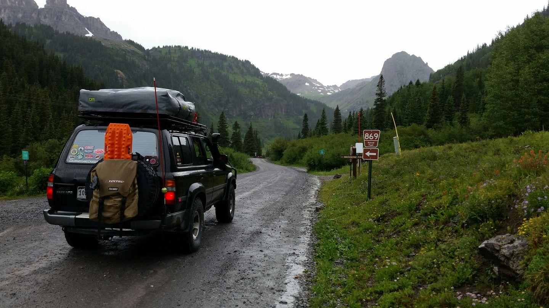 Yankee Boy Basin - Waypoint 7: Imogene Pass Alternate Northern Access Intersection