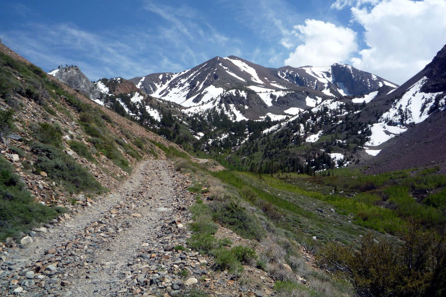 Laurel Lakes Road - Waypoint 6: Last Turnout before Switchbacks