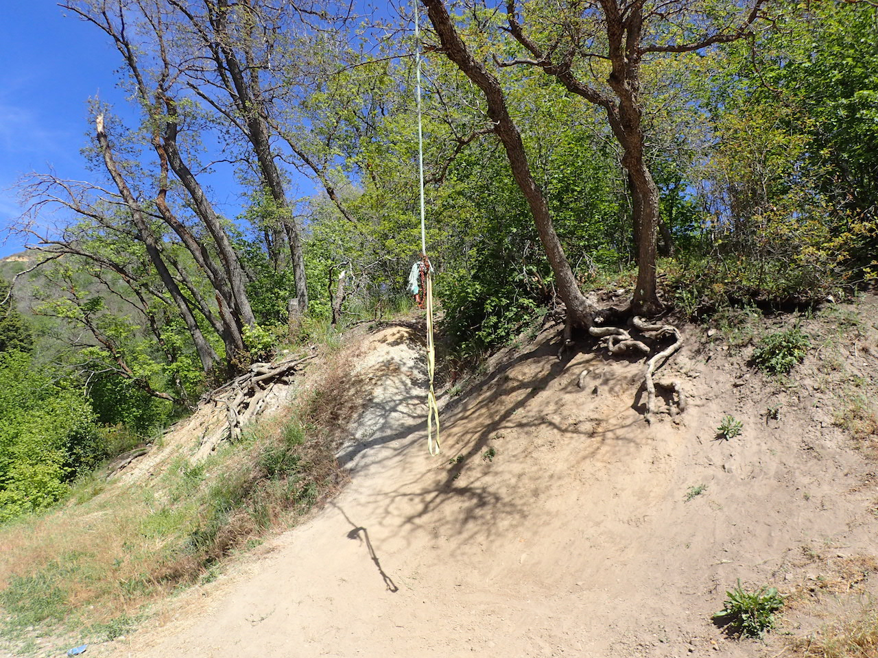 Butterfield Canyon - Waypoint 4: Rope Swing Pullout