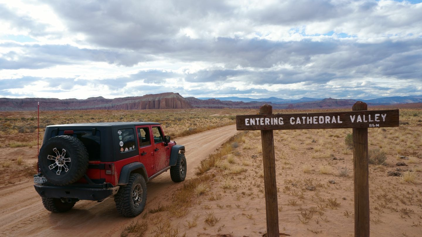 Cathedral Valley Loop - Waypoint 25: Park Boundary