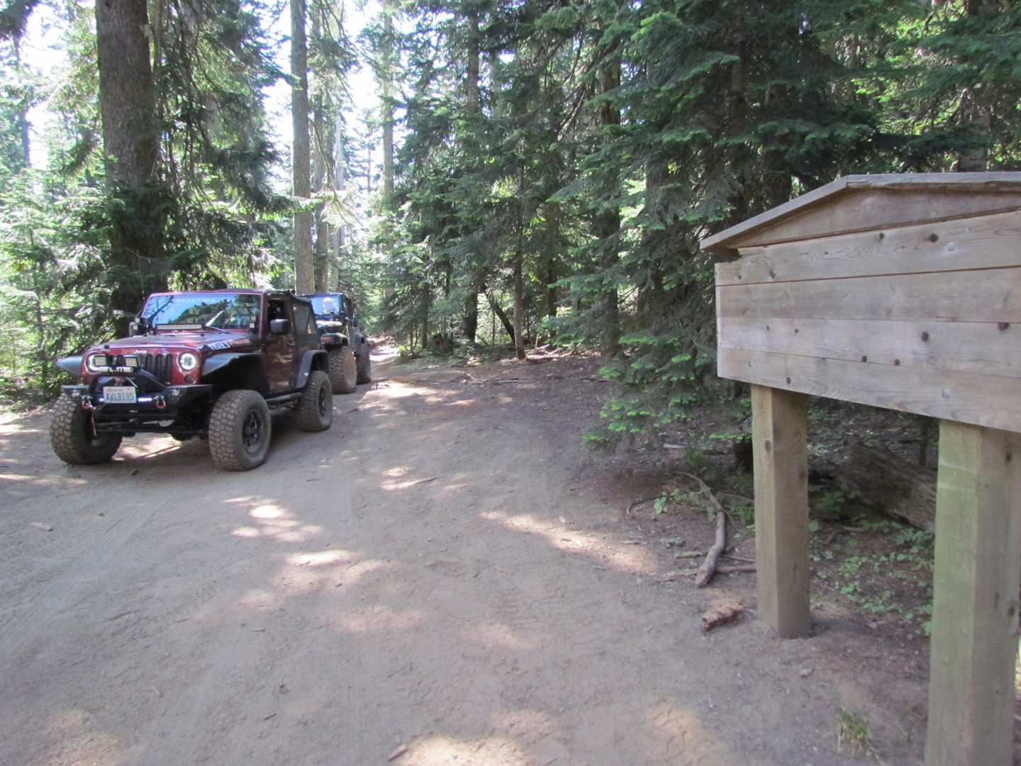 Naches Trail - Waypoint 13: Historic Sign Info