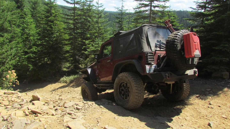 Naches Trail - Waypoint 8: Rock Ledge - Straight