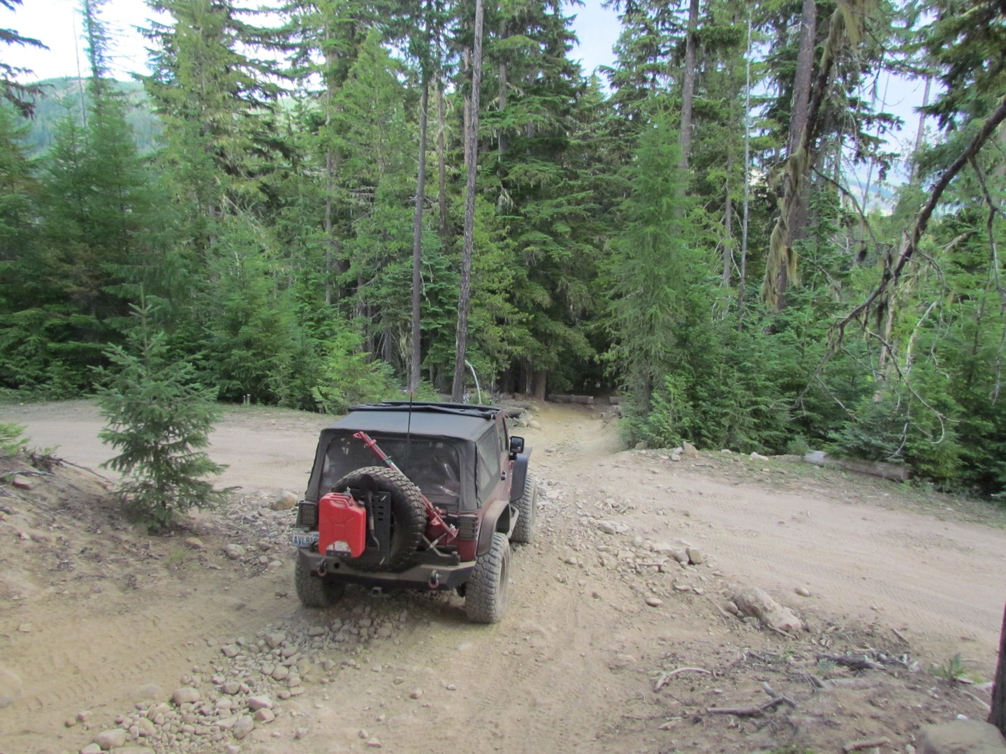 Naches Trail - Waypoint 18: Trail intersection