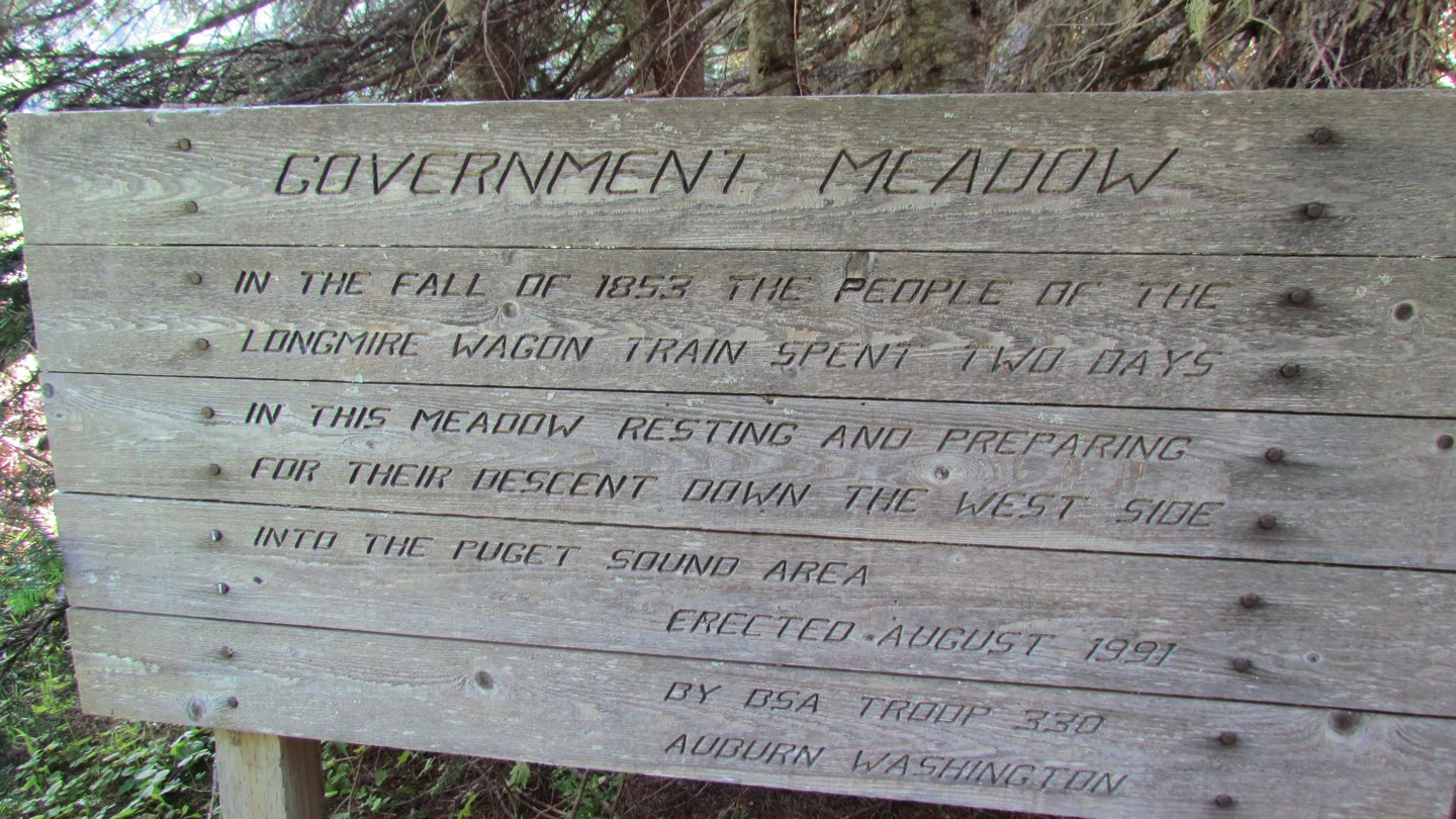 Naches Trail - Waypoint 12: Government Meadows - Straight