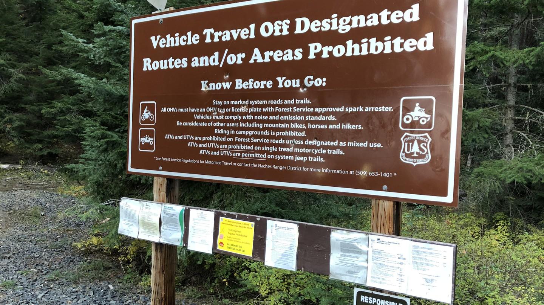 Naches Trail - Waypoint 23: Trail End