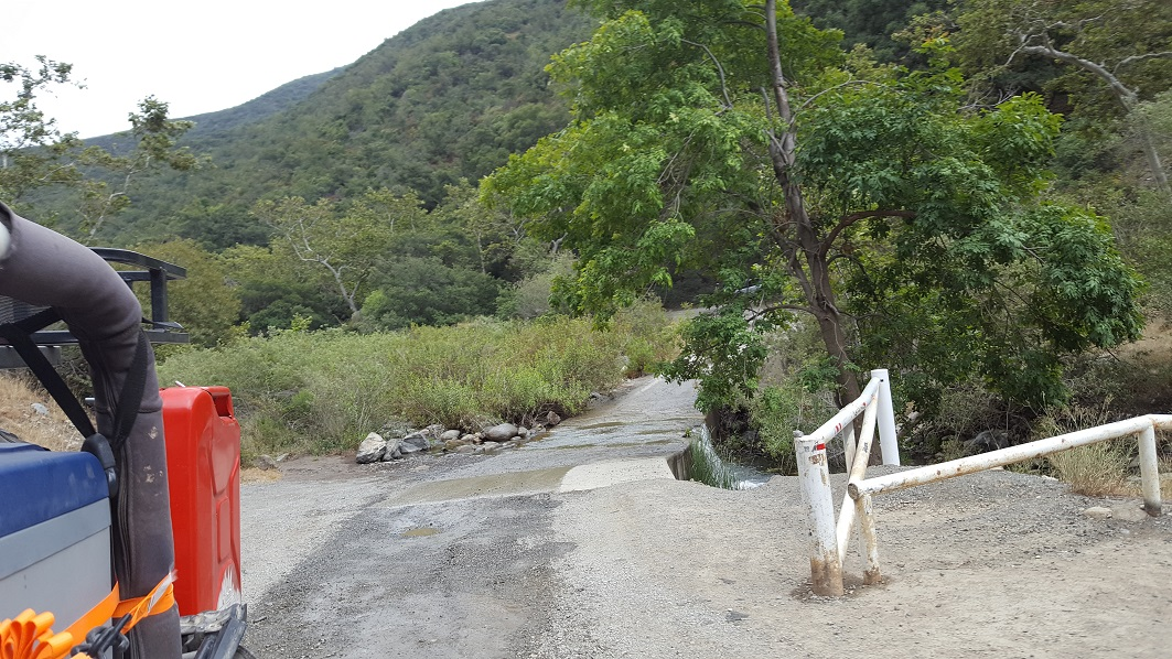 Trabuco Canyon - AKA Holy Jim Canyon - Waypoint 7: Gate - Closed at this point.
