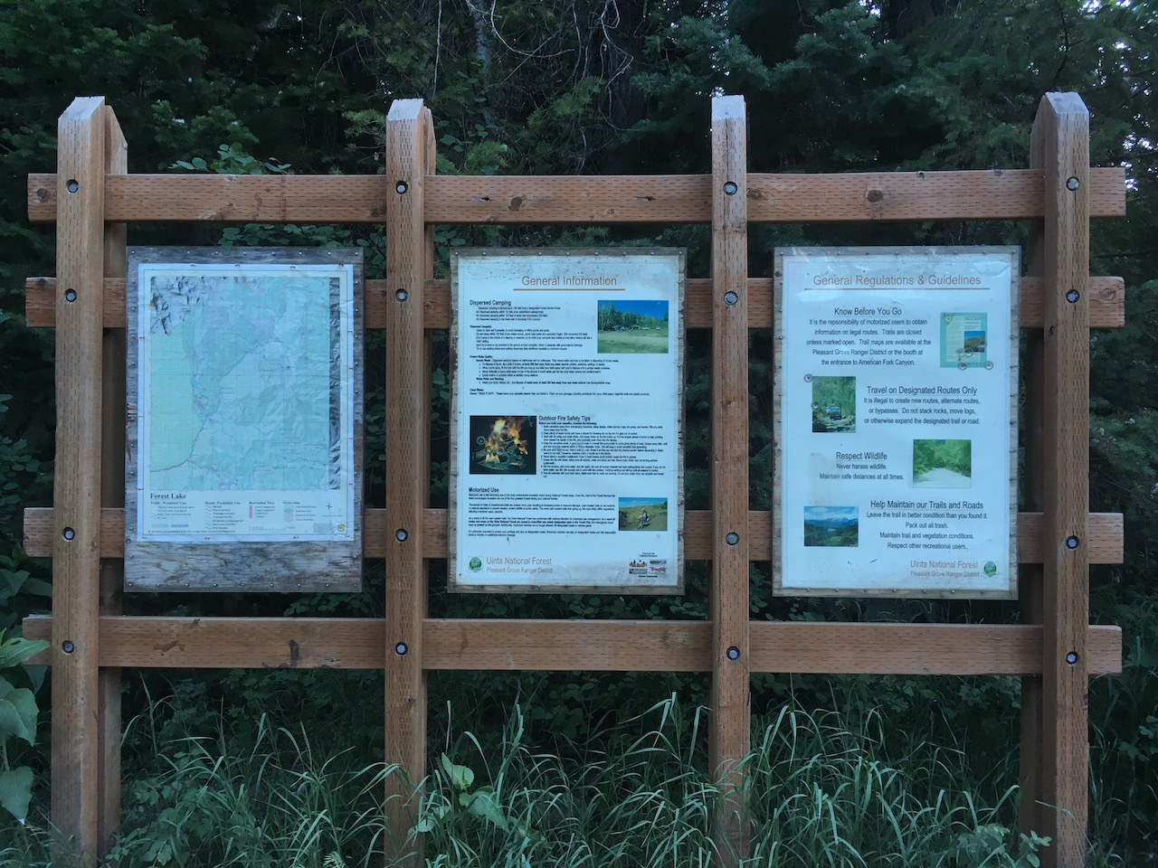 Forest Lake - Waypoint 2: Informational Board