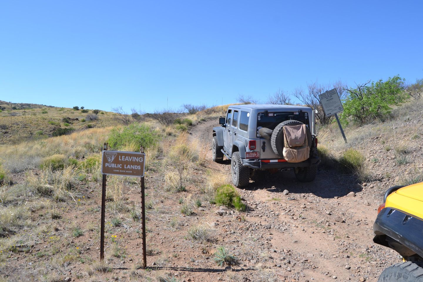 Jackson Cabin/Muleshoe Ranch Road - Waypoint 10: Entering Private Lands