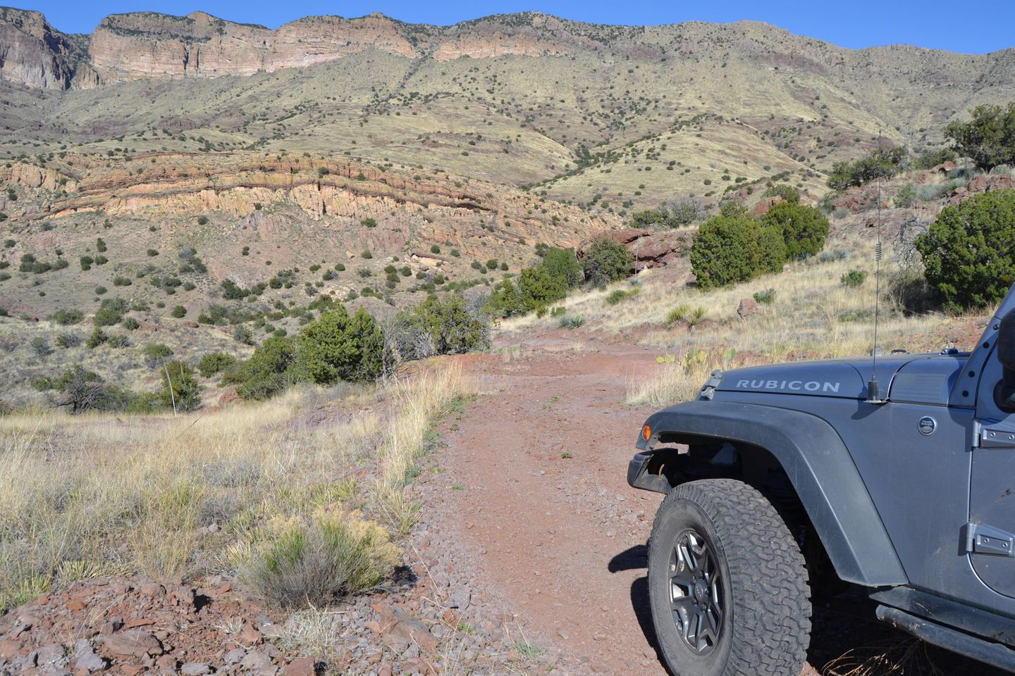 Jackson Cabin/Muleshoe Ranch Road - Waypoint 14: Redfield Canyon Wilderness Boundary