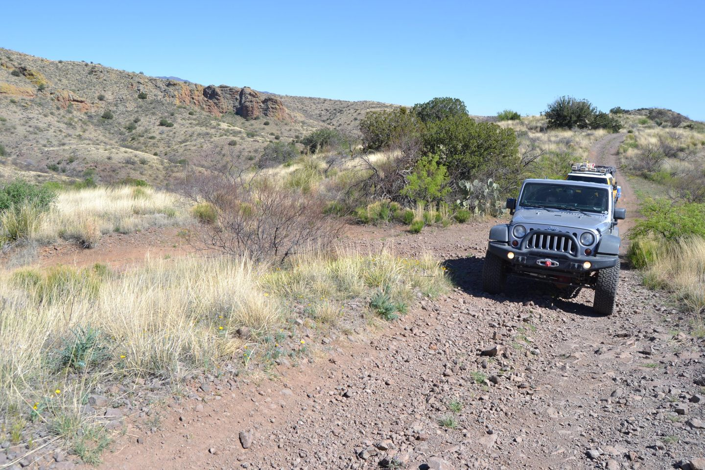 Jackson Cabin/Muleshoe Ranch Road - Waypoint 9: Unknown Forest Road - To Abandoned Browning Ranch  Double D Canyon