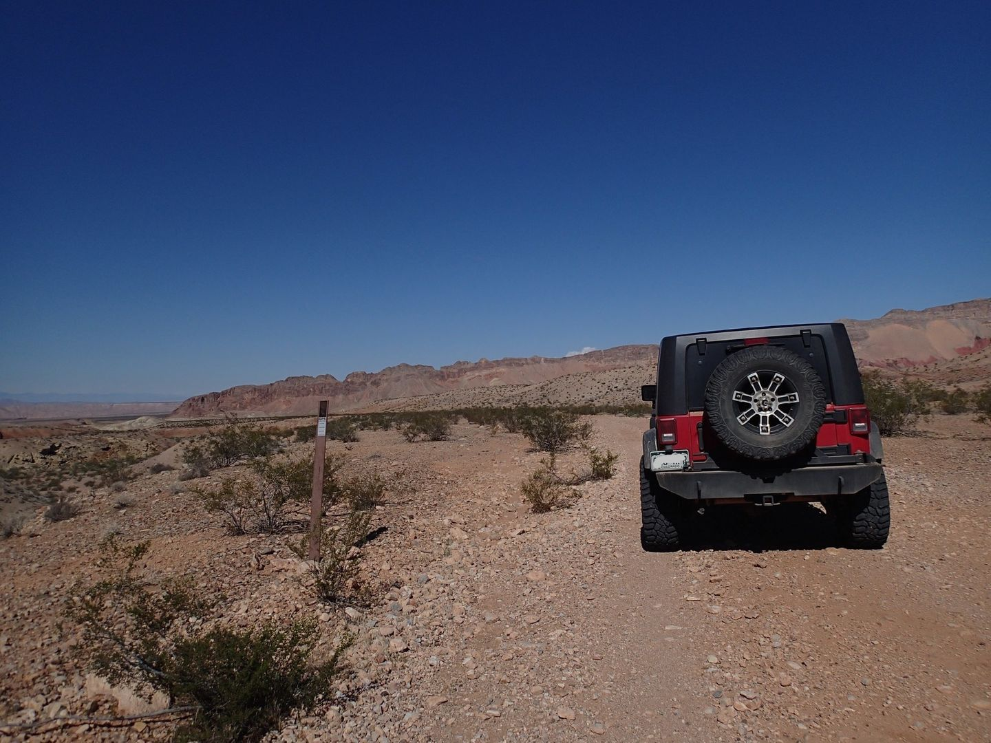 Gold Butte Backcountry Byway - Waypoint 22: Unknown Road Intersection