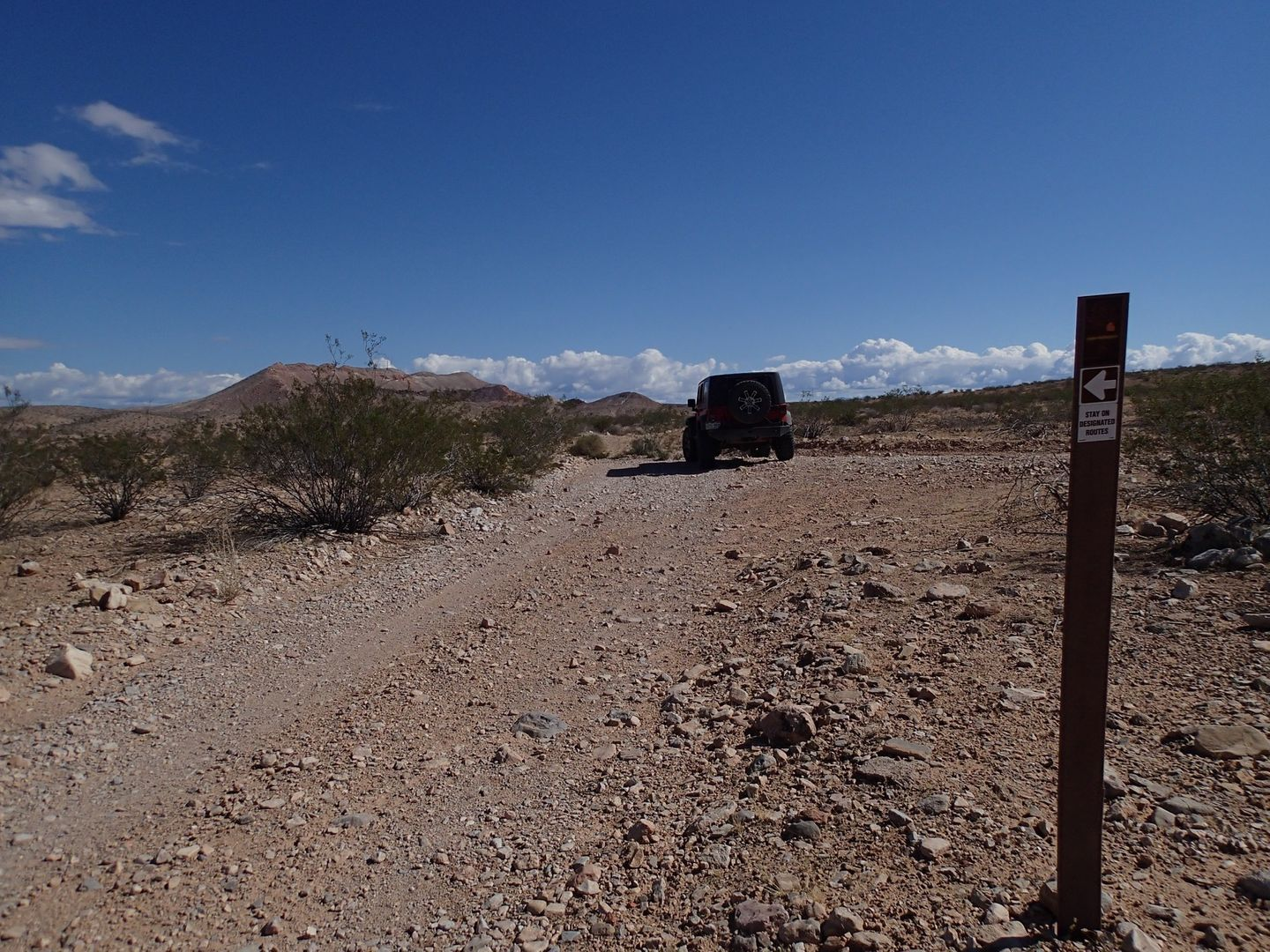 Gold Butte Backcountry Byway - Waypoint 28: Unknown Road Intersection