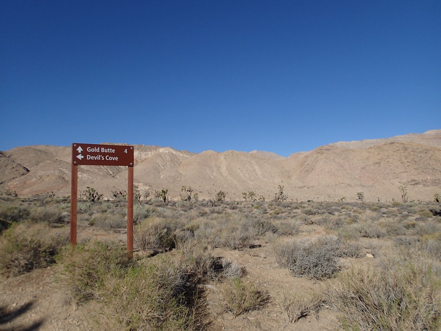 Gold Butte Backcountry Byway - Waypoint 13: Devils Cove Intersection